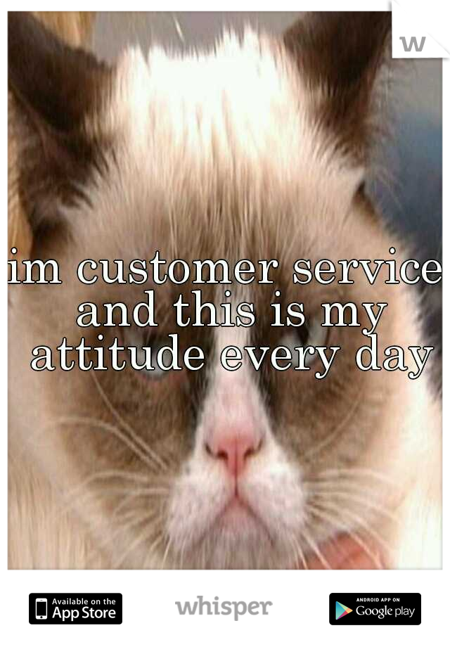 im customer service and this is my attitude every day