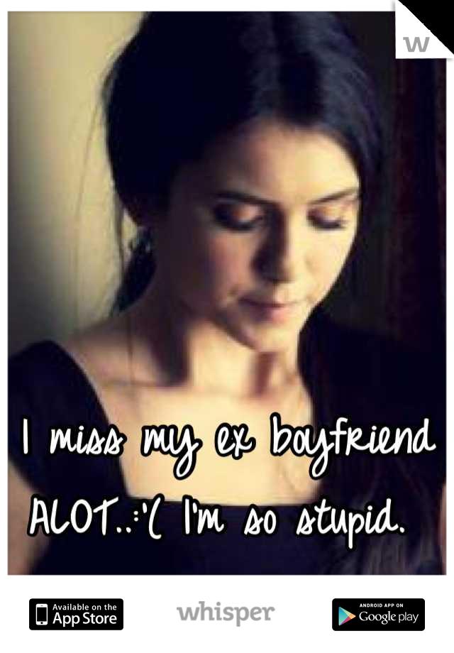 I miss my ex boyfriend ALOT..:'( I'm so stupid.