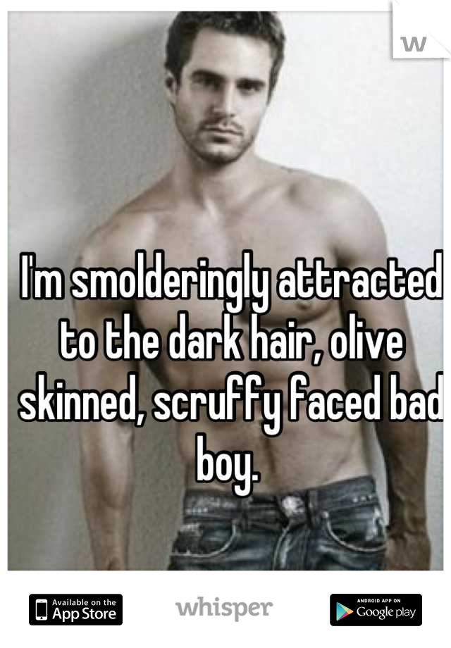 I'm smolderingly attracted to the dark hair, olive skinned, scruffy faced bad boy.
