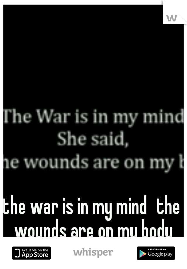 the war is in my mind the wounds are on my body