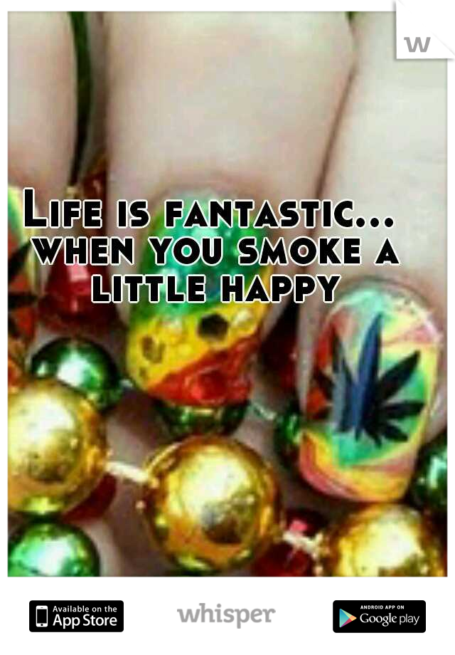 Life is fantastic... when you smoke a little happy