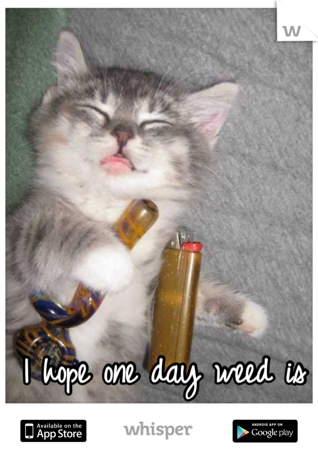 I hope one day weed is legal for recreational use