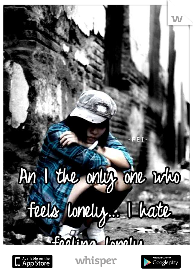 An I the only one who feels lonely... I hate feeling lonely