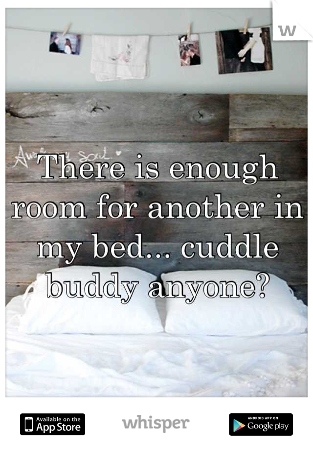 There is enough room for another in my bed... cuddle buddy anyone?
