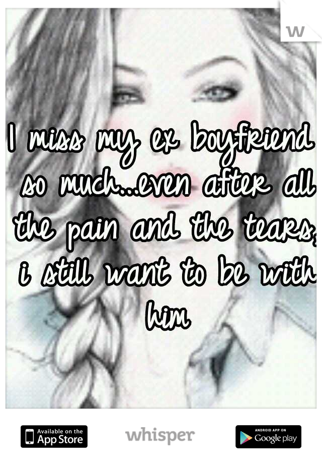I miss my ex boyfriend so much...even after all the pain and the tears, i still want to be with him