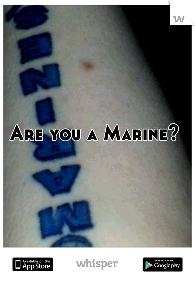 Are you a Marine?