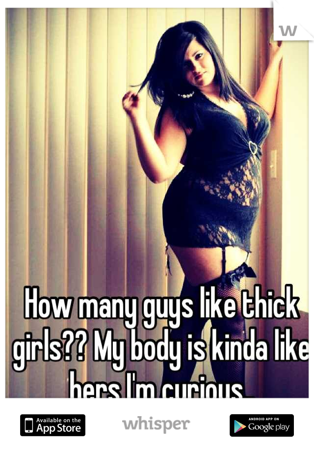 How many guys like thick girls?? My body is kinda like hers I'm curious..