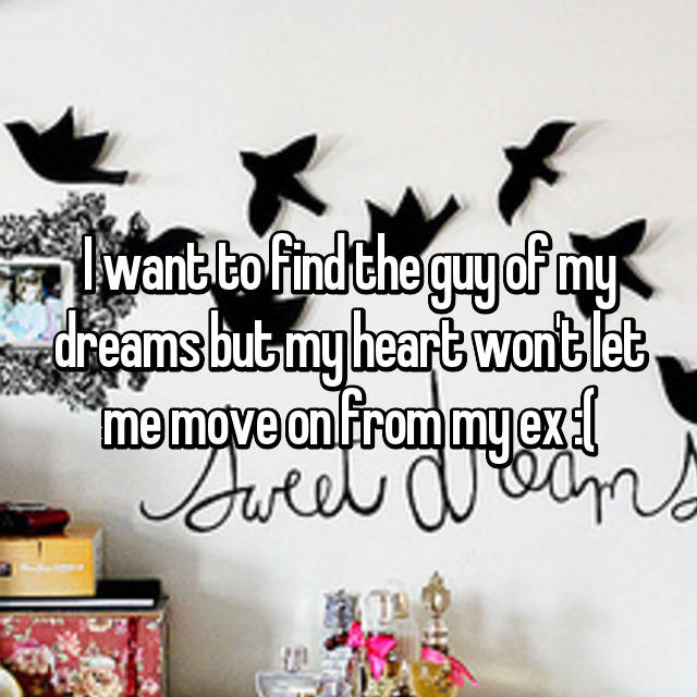I want to find the guy of my dreams but my heart won't let me move on from my ex :(