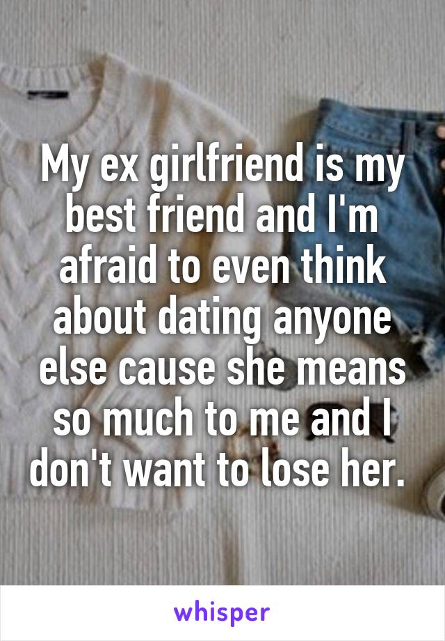 im dating someone but im still in love with my ex