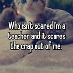 Who isn't scared I'm a teacher and it scares the crap out of me.