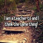I am a teacher to and I think the same thing!
