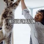HI FIVE FOR BACON