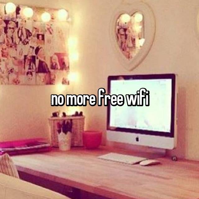 no more free wifi