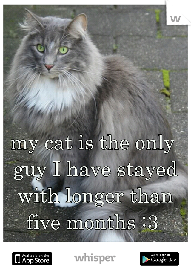 my cat is the only guy I have stayed with longer than five months :3