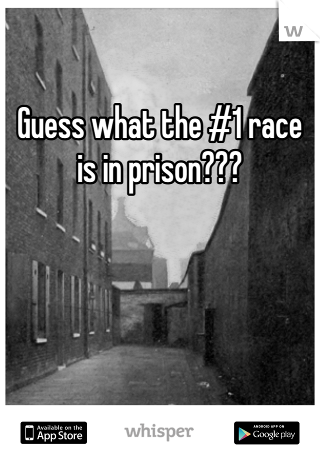 Guess what the #1 race is in prison???