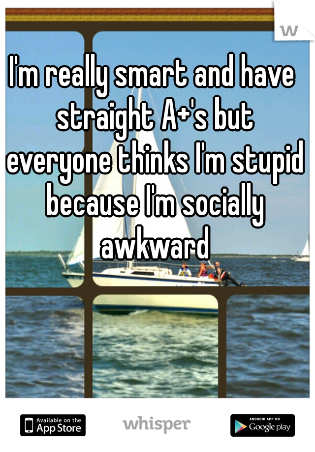 I'm really smart and have straight A+'s but everyone thinks I'm stupid because I'm socially awkward