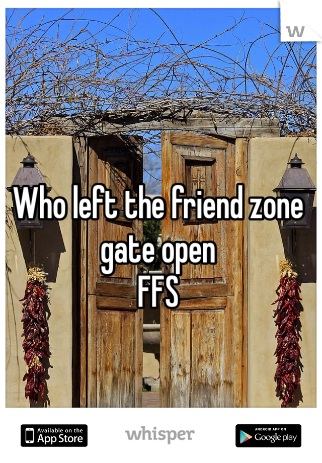 Who left the friend zone gate open  FFS