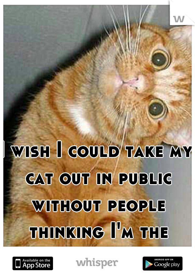 I wish I could take my cat out in public without people thinking I'm the crazy cat lady...