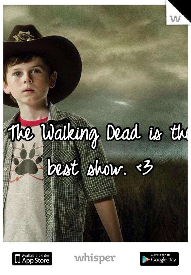 The Walking Dead is the best show. <3