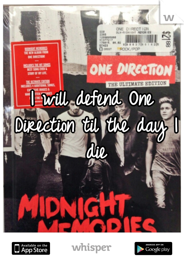 I will defend One Direction til the day I die