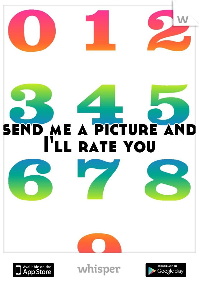 send me a picture and I'll rate you