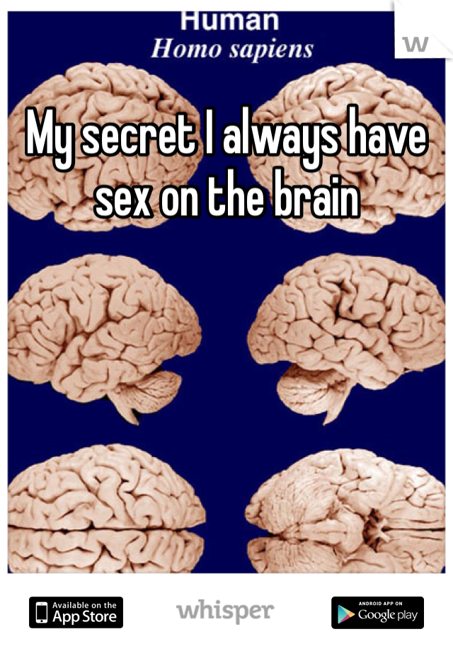 My secret I always have sex on the brain