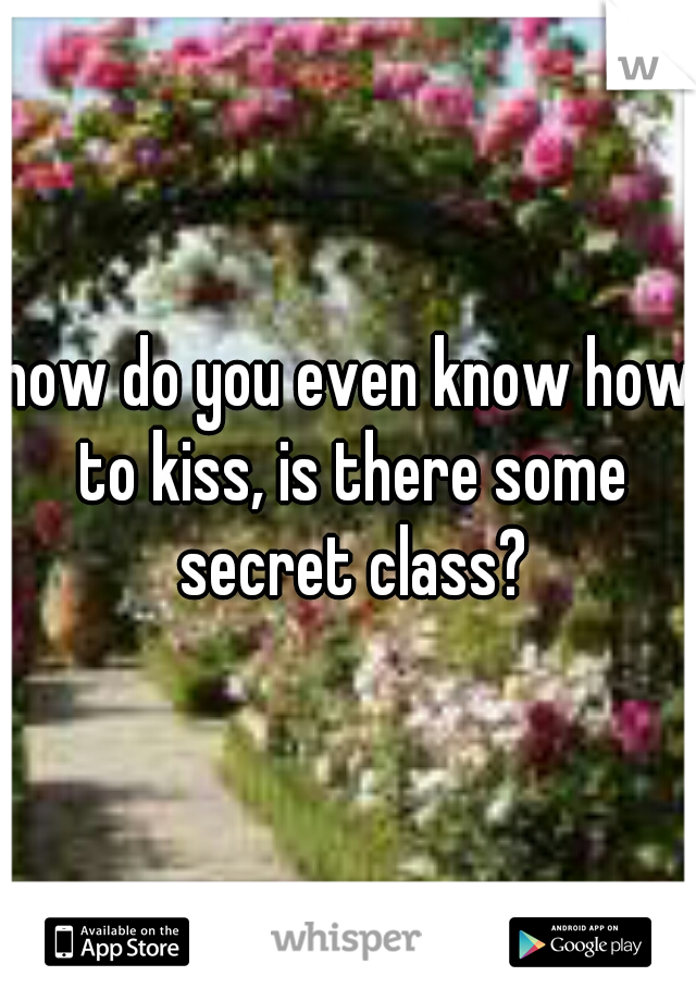 how do you even know how to kiss, is there some secret class?