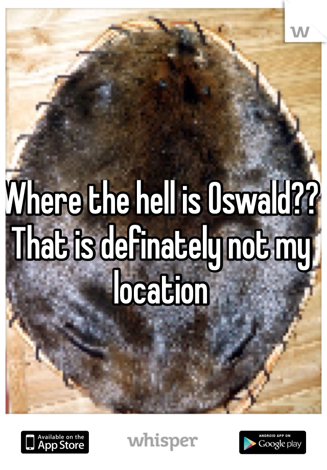 Where the hell is Oswald?? That is definately not my location