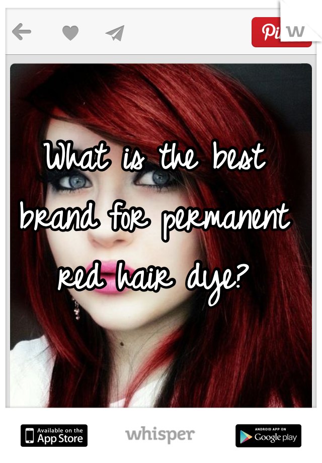 What is the best brand for permanent red hair dye?