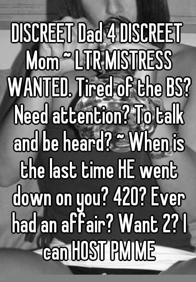 Discreet Mom