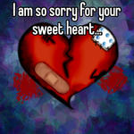 I am so sorry for your sweet heart...