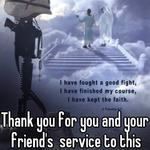 Thank you for you and your friend's  service to this country. God bless.