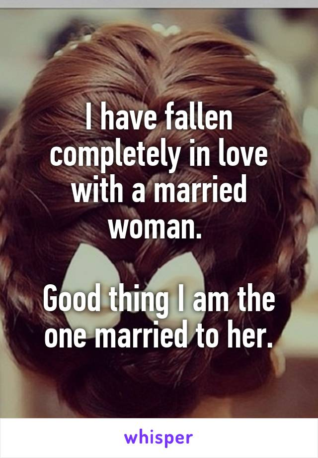 i love a married woman