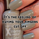 It's the feeling of having your fingers cut off
