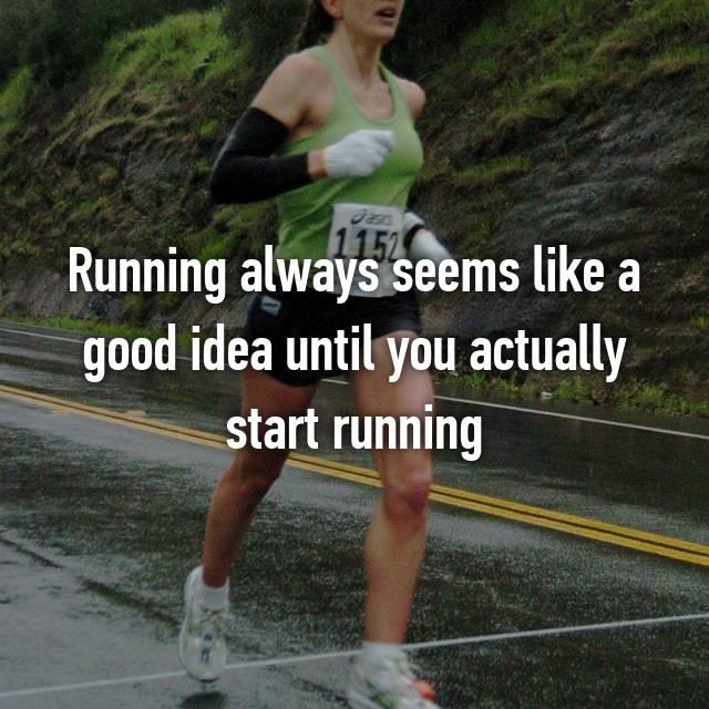 Running always seems like a good idea until you actually start running