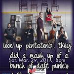 look up pentatonix. they did a mash up of a bunch of daft punk's stuff. it's awesome :).