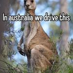 In australia we drive this
