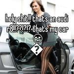 holy shit!! thats an audi r8!!??!?!? thats my car 😍😍