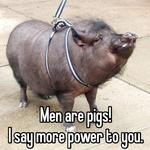 Men are pigs!  I say more power to you.