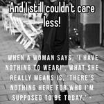 And I still couldn't care less!
