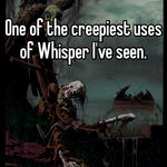 One of the creepiest uses of Whisper I've seen.