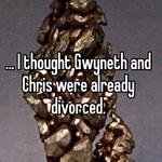 ... I thought Gwyneth and Chris were already divorced.