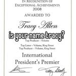 is your name tracy?