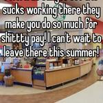 I work at target too & it sucks working there they make you do so much for shittty pay! I can't wait to leave there this summer!