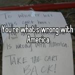 You're what's wrong with America