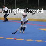 Amazing feat! Congrats!