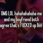 OMG LOL hahahahahaha me and my boyfriend both agree that's FUCKED up lhh!