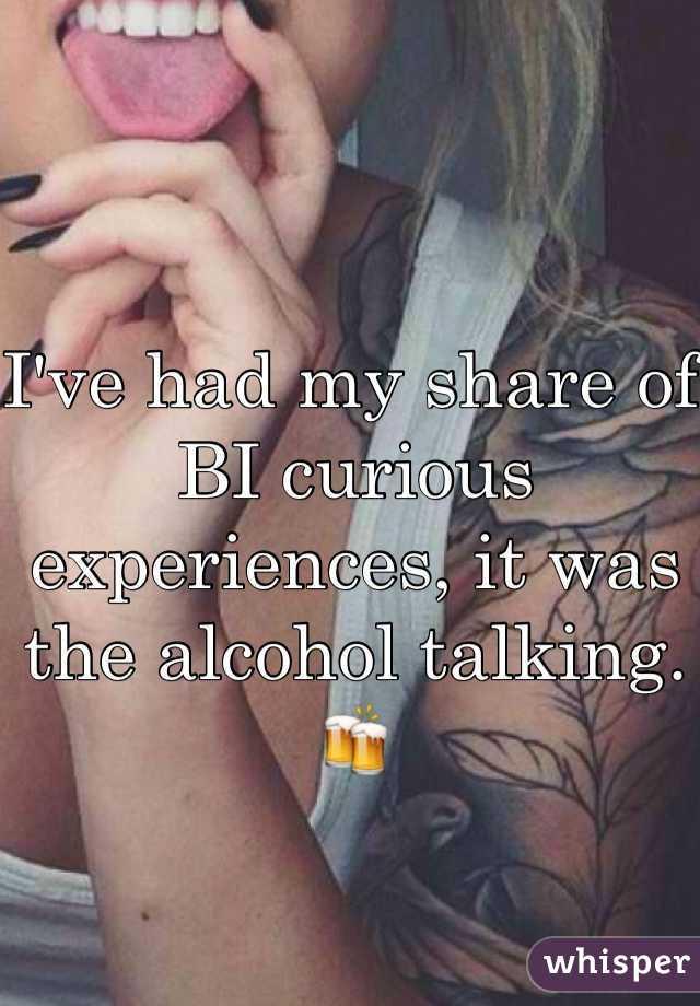 Bicurious experiences