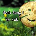 That's funny !  You rock !