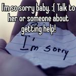 I'm so sorry baby. :( Talk to her or someone about getting help!